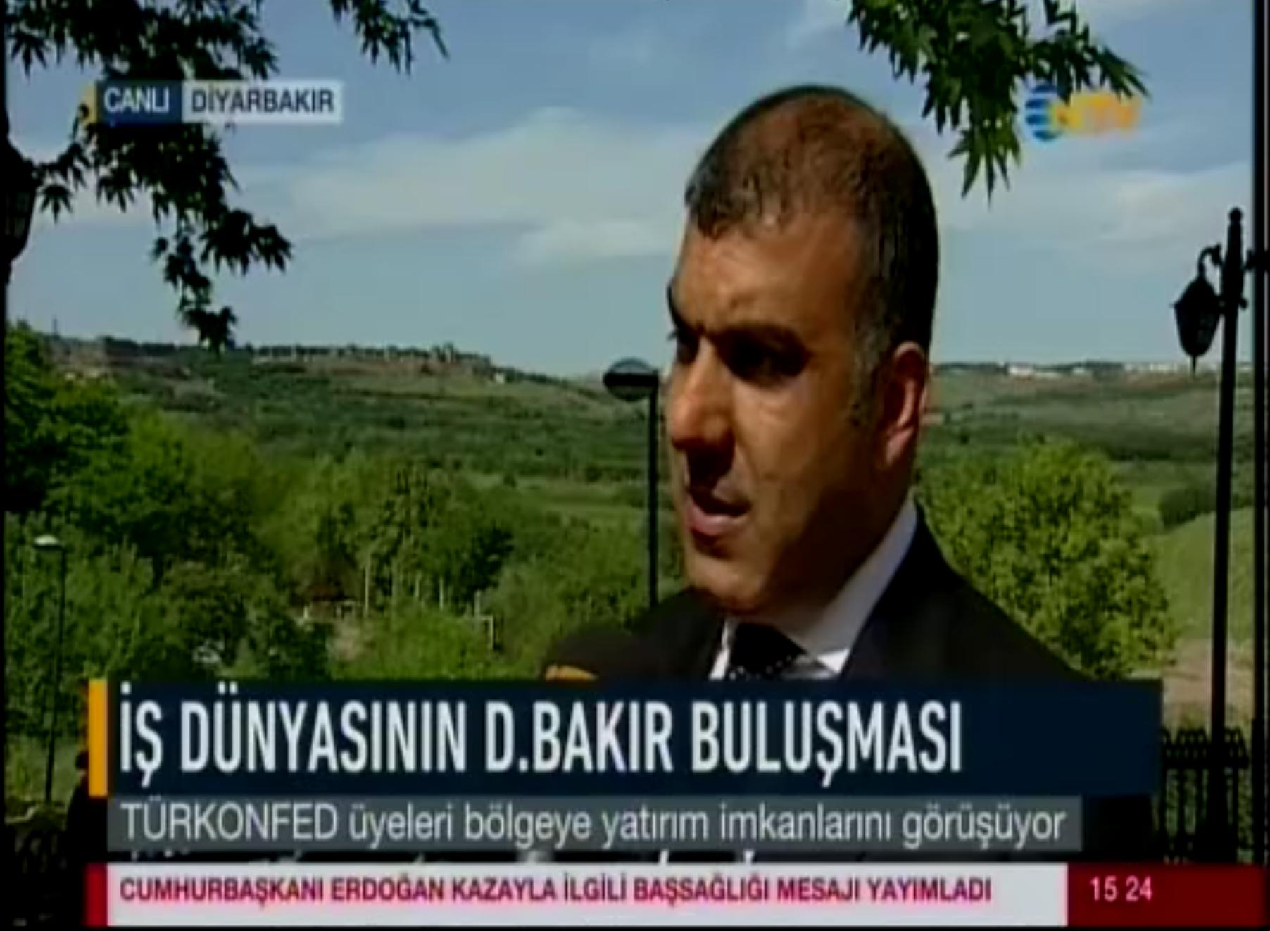 Tarkan Kadooğlu - NTV 13.05.2017 - Diyarbakır Röportajı
