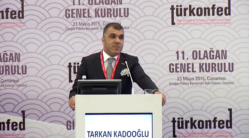 TÜRKONFED 11. Olağan Genel Kurulu - Tarkan Kadooğlu'nun Yeni Yönetim Kurulu Adına Teşekkür Konuşması