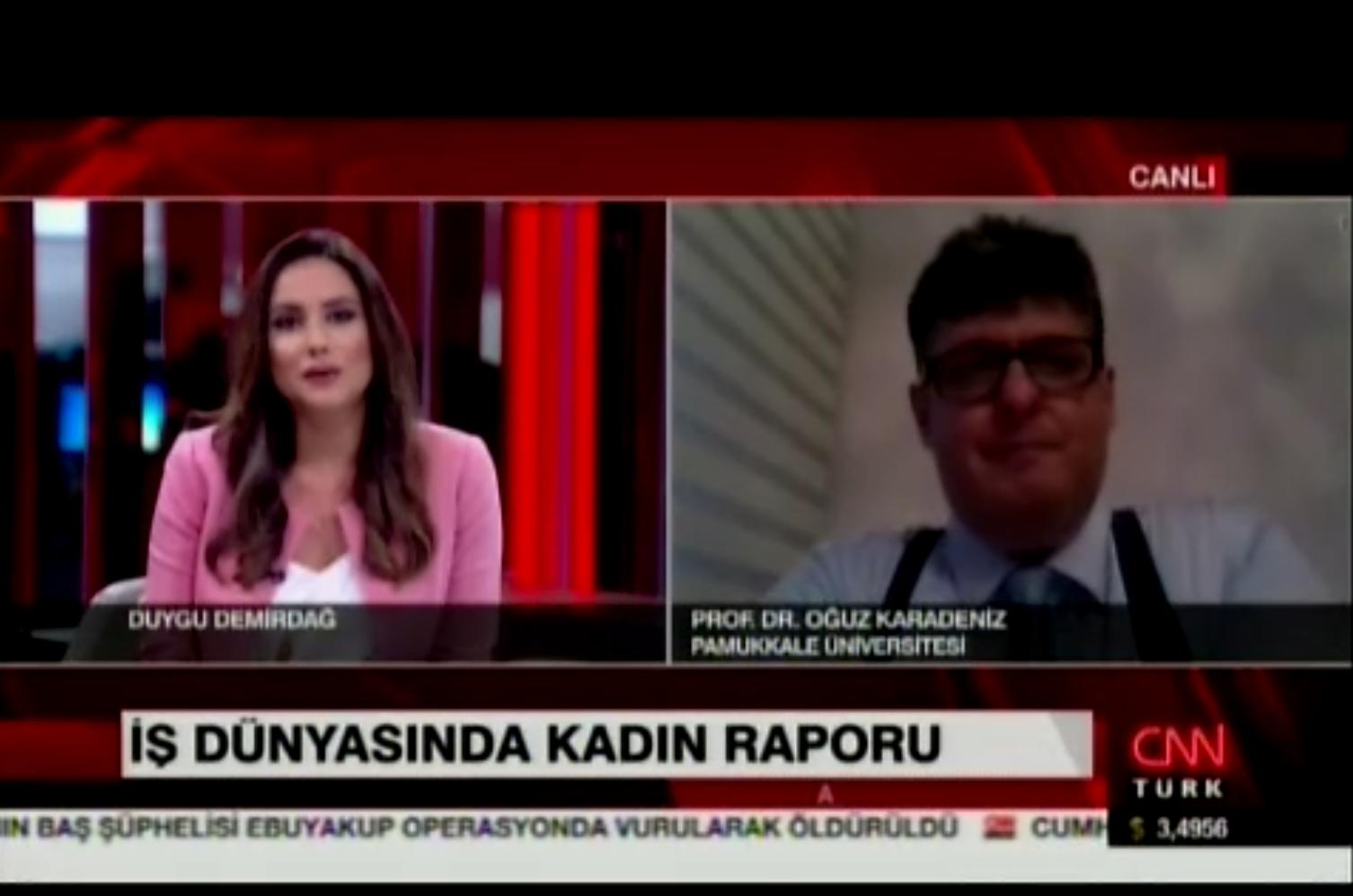 CNN Türk - İş Dünyasında Kadın Raporu - Oğuz Karadeniz 21.08.2017