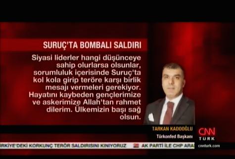 TÜRKONFED Medya Yansıması - CNNTürk - 21 Temmuz 2015